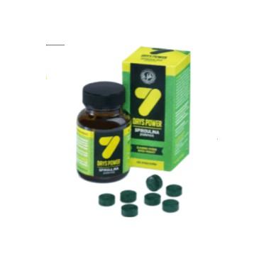 7 days Spiruline 21 comprimés de 1g sans iodine 21g
