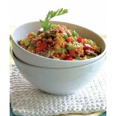 Recette de Taboulé chaud aux légumes et mastic de Chios