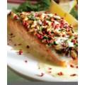 Recette de Saumon en croûte de pignons et sauce au mastic de Chios 0