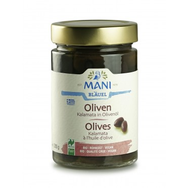 Olives de Kalamata BIO à l'huile d'olive 180g