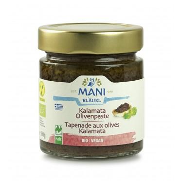 Pâte d'olive Kalamata et vertes BIO 180g