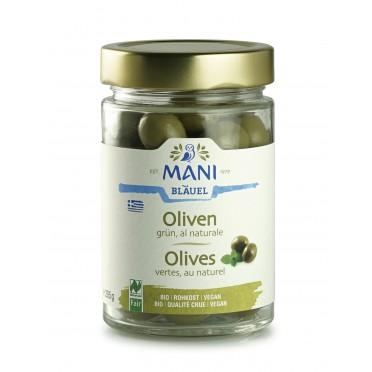 Olives vertes Amfissa BIO au naturel 180g