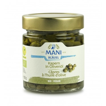 Câpres à l'huile d'olive BIO 180g
