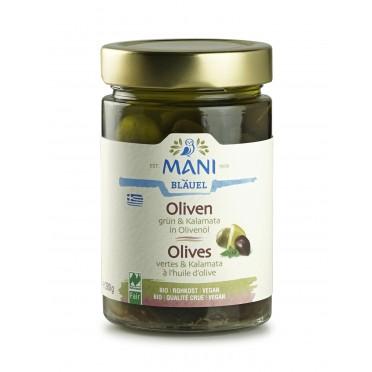 Olives vertes Amfissa à l'huile d'olive BIO 180g