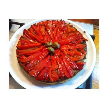 Recette de Tarte tatin aux poivrons et pâte d'olives