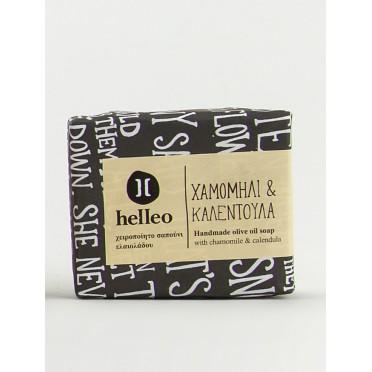 Mini savon naturel à l'huile d'olive Bio à la camomille et au calendula 30g