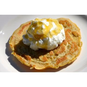 Pacakes à la farine de caroube et yaourt à la grecque
