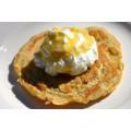 Pacakes à la farine de caroube et yaourt à la grecque 0