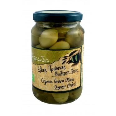 Olives vertes Chalkidiki dénoyautés BIO 200g
