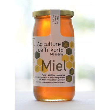 Miel fleurs, sapin et agrumes Vlahos 450 g