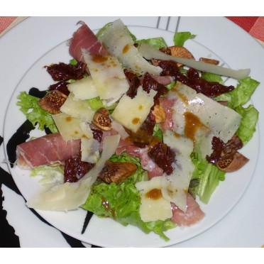 Salade de jambon de Parme et figues séchées au vinaigne balsamique - source : LMDC