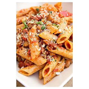 Recette des pâtes à la Sauce olives, champignons et câpres - source : https://s-media-cache-ak0.pinimg.com