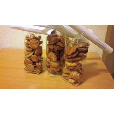 Recette des gâteaux grecs à l'huile d'olive et sésame - Ladokouloura - source : LCDM