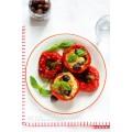 Poivrons farcies au thon, à la mozzarella et aux olives de Kalamata 0