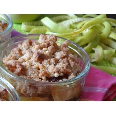 Recette du crumble aux pommes, miel et thym